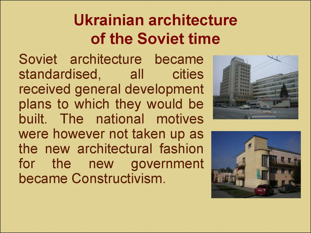 Ukrainian architecture of the Soviet time