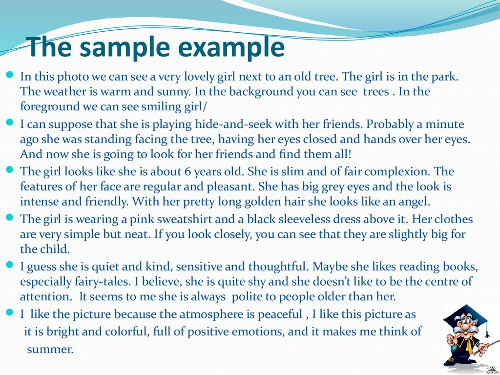 The sample example