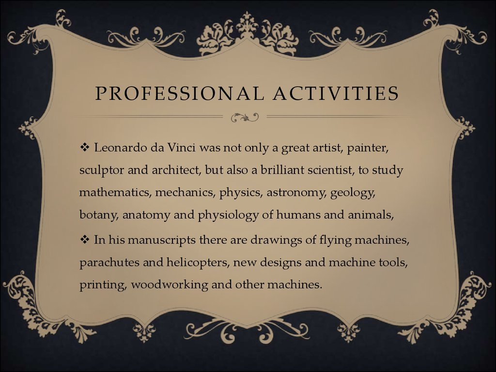 Professional activities