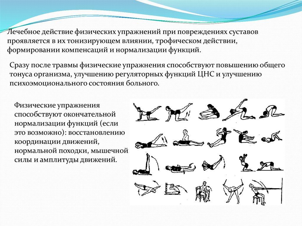Комплекс упражнений при болезни суставо какие тренеровкм укрепят суставы и связки