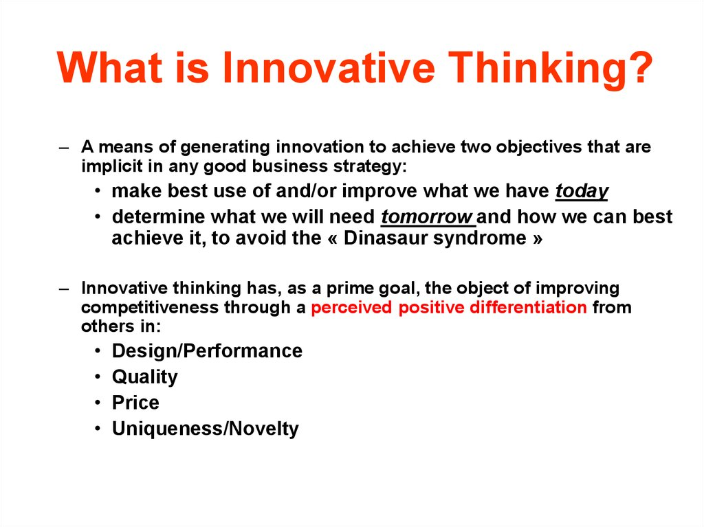 What is Innovative Thinking?