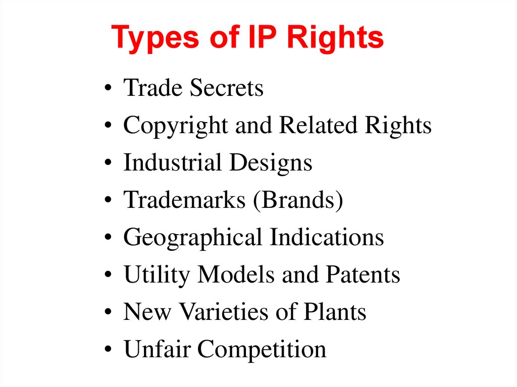 Types of IP Rights