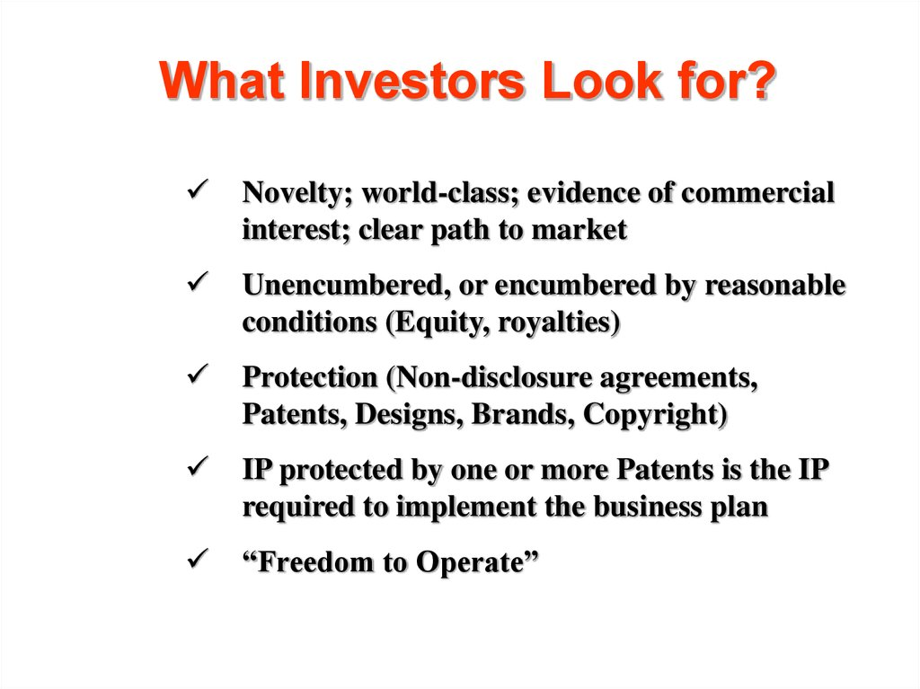 What Investors Look for?