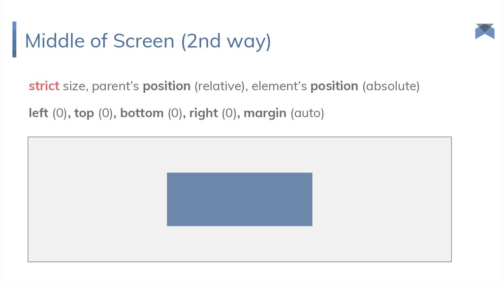 Middle of Screen (2nd way)