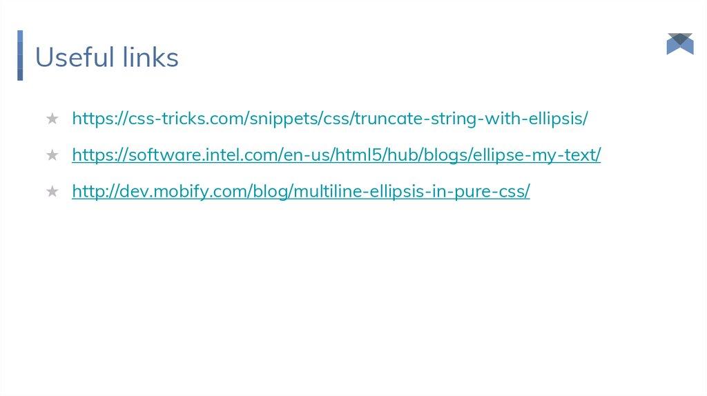 CSS-recipies - online presentation