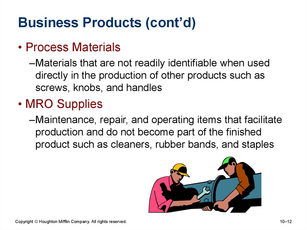 Business Products (cont'd)