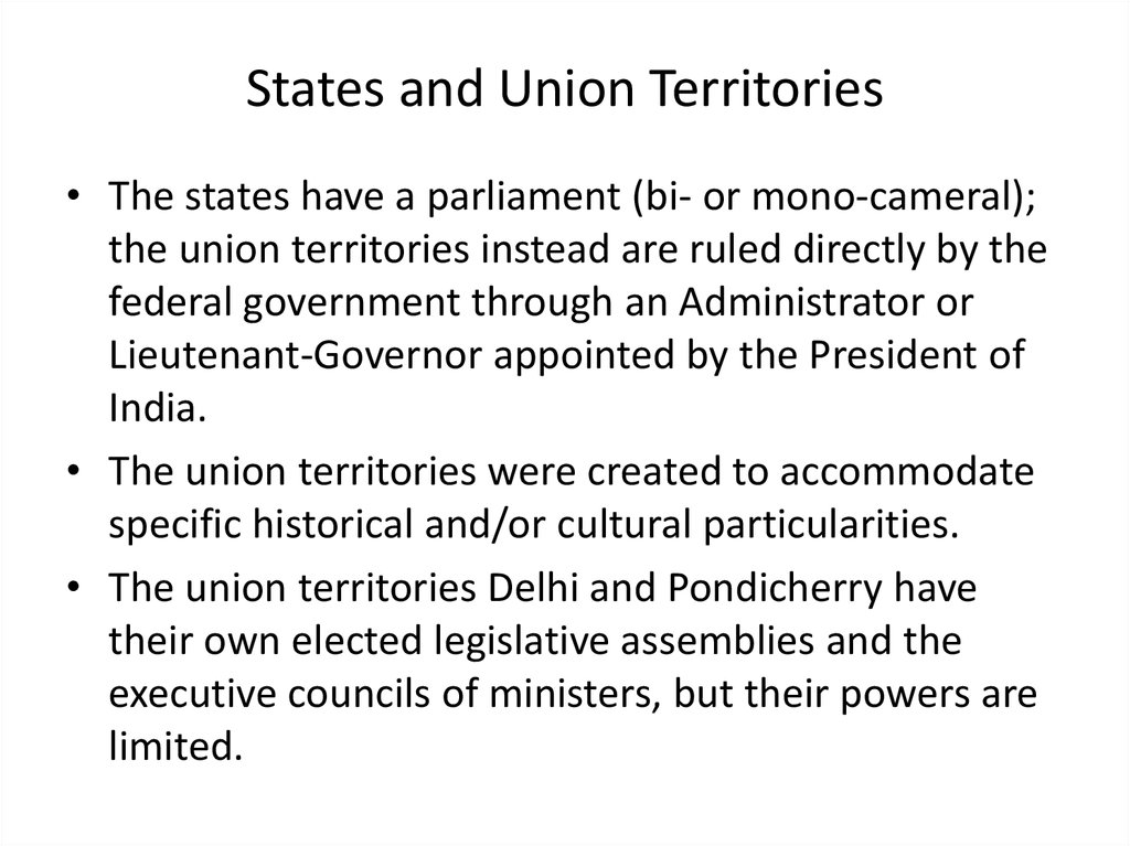 States and Union Territories