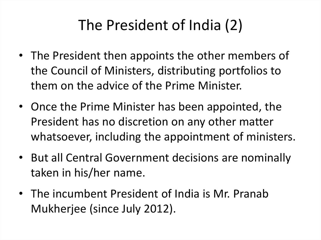 The President of India (2)
