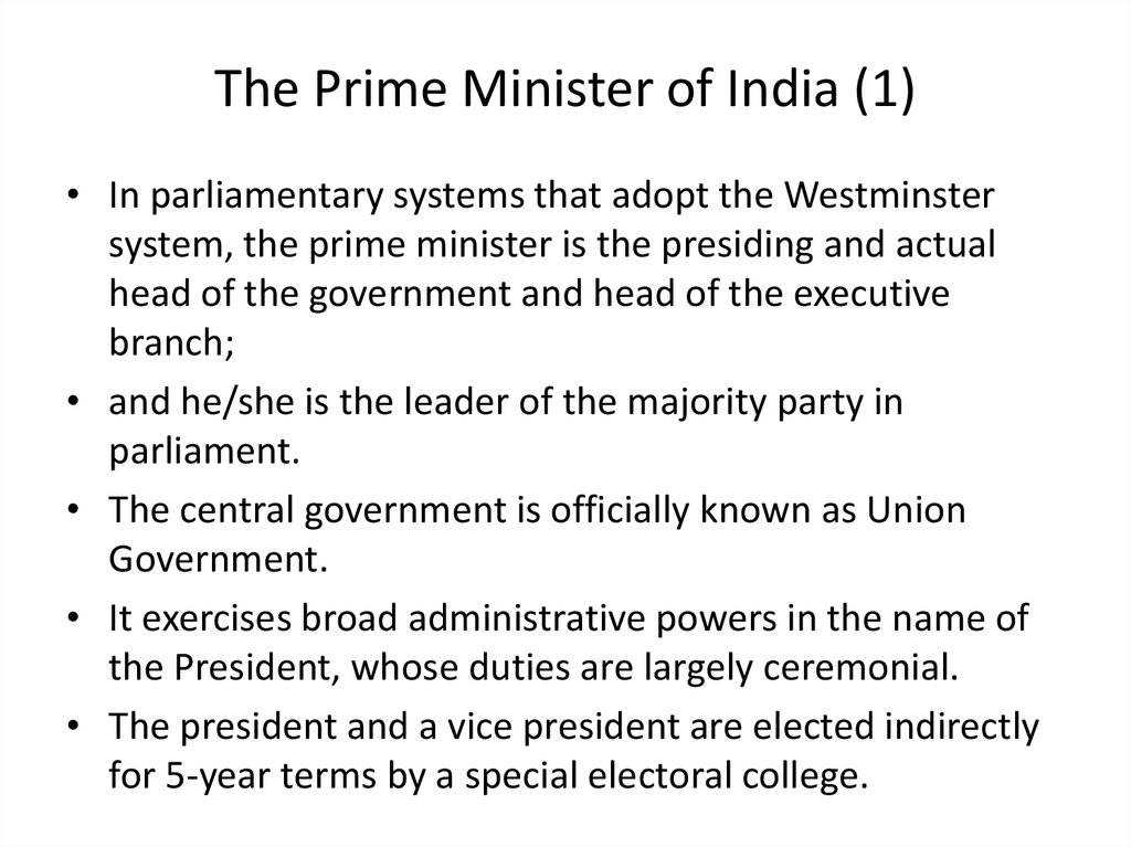 The Prime Minister of India (1)