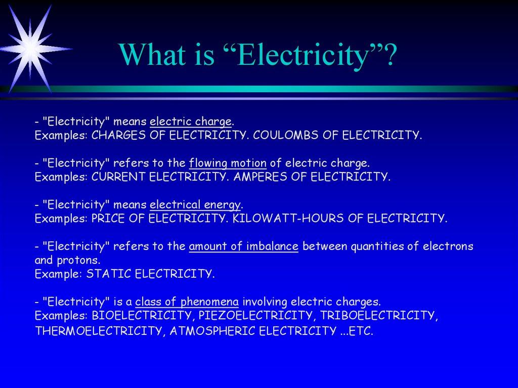 Electricity And Magnetism Online Presentation