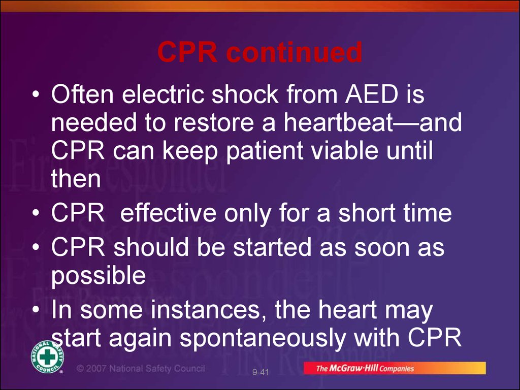 CPR continued