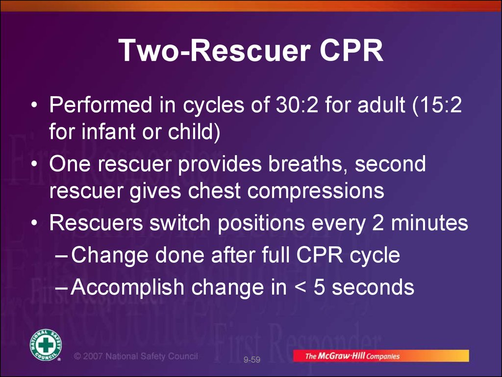 Two-Rescuer CPR