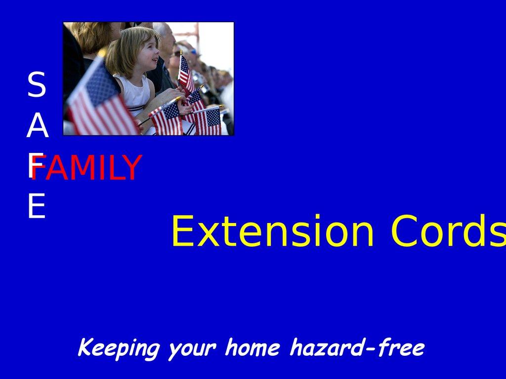 Extension Cord Safety презентация онлайн