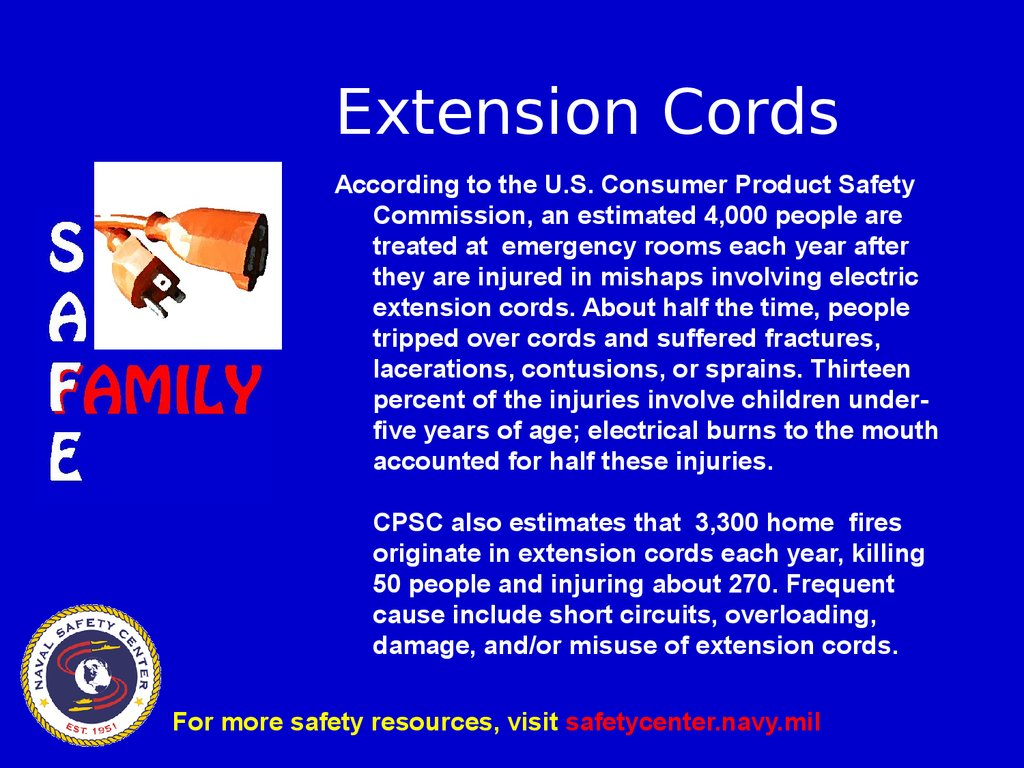Extension cord safety - online presentation