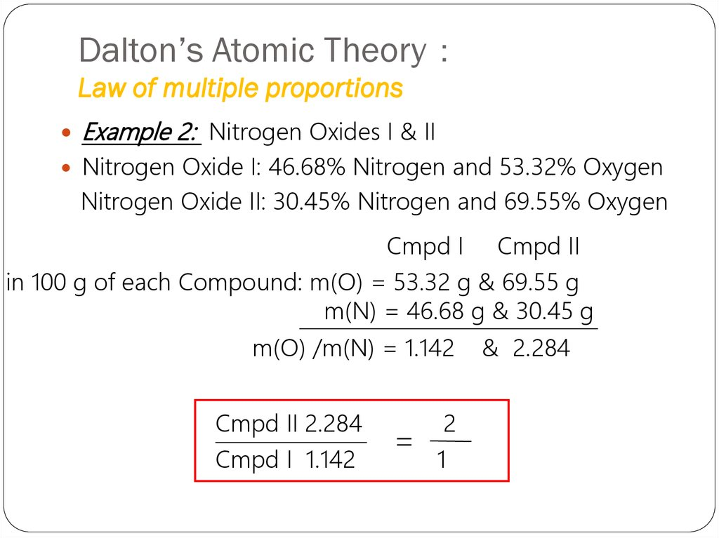 Atomic theory and structure of an atom - online presentation
