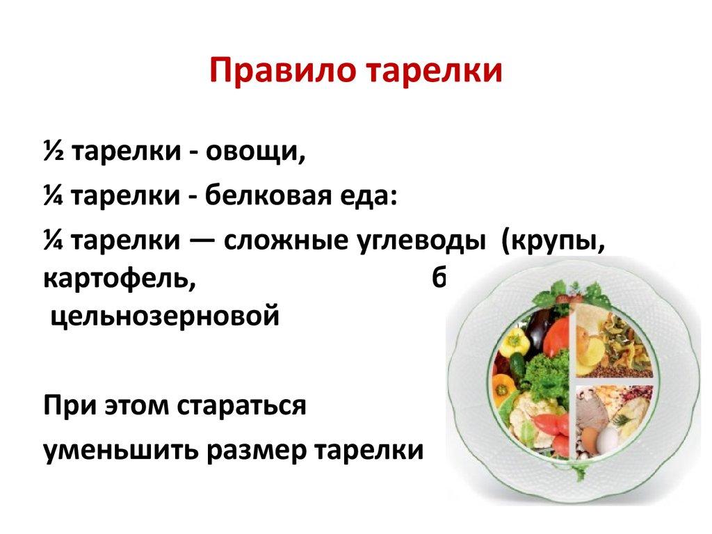 Правило Тарелки Для Похудения. Правило