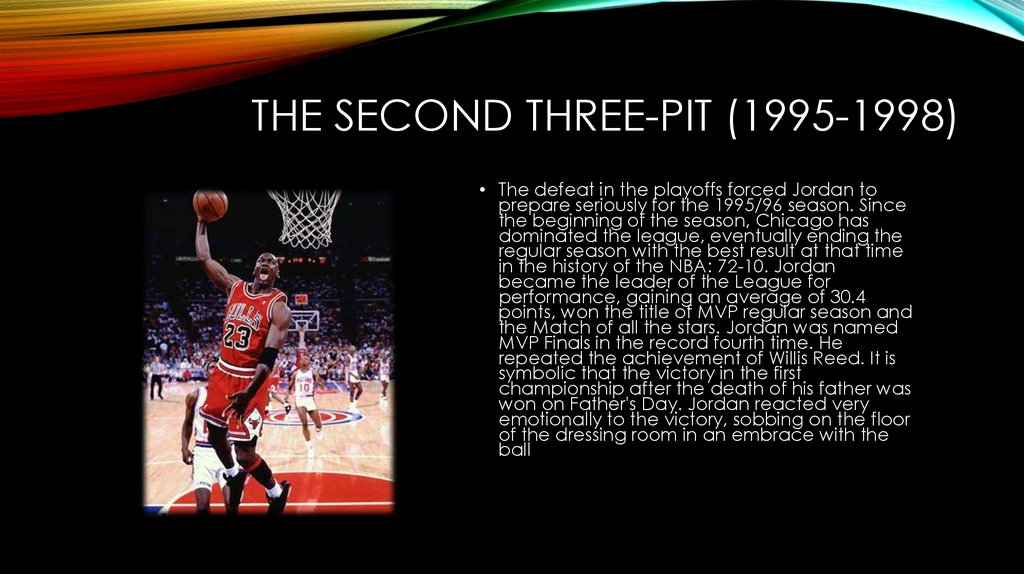 The second three-pit (1995-1998)