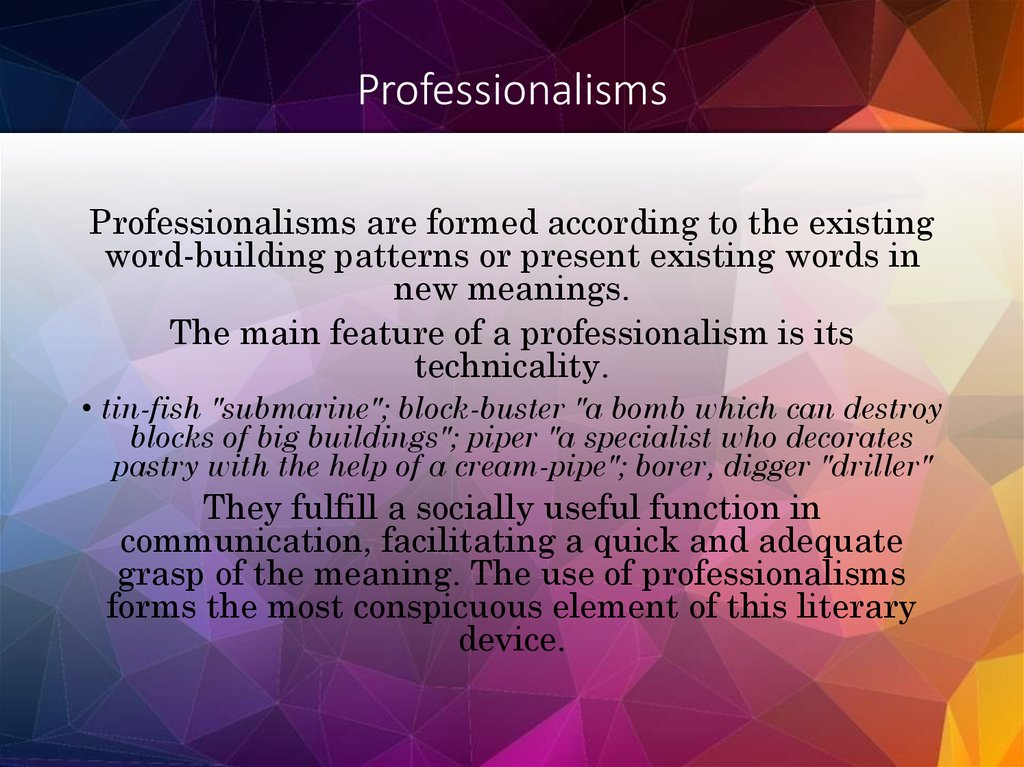 Professionalisms