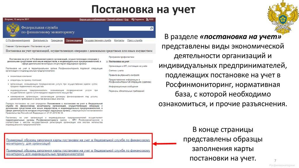 Регистрация ип в росфинмониторинге сдача отчетности в электронном виде в ифнс