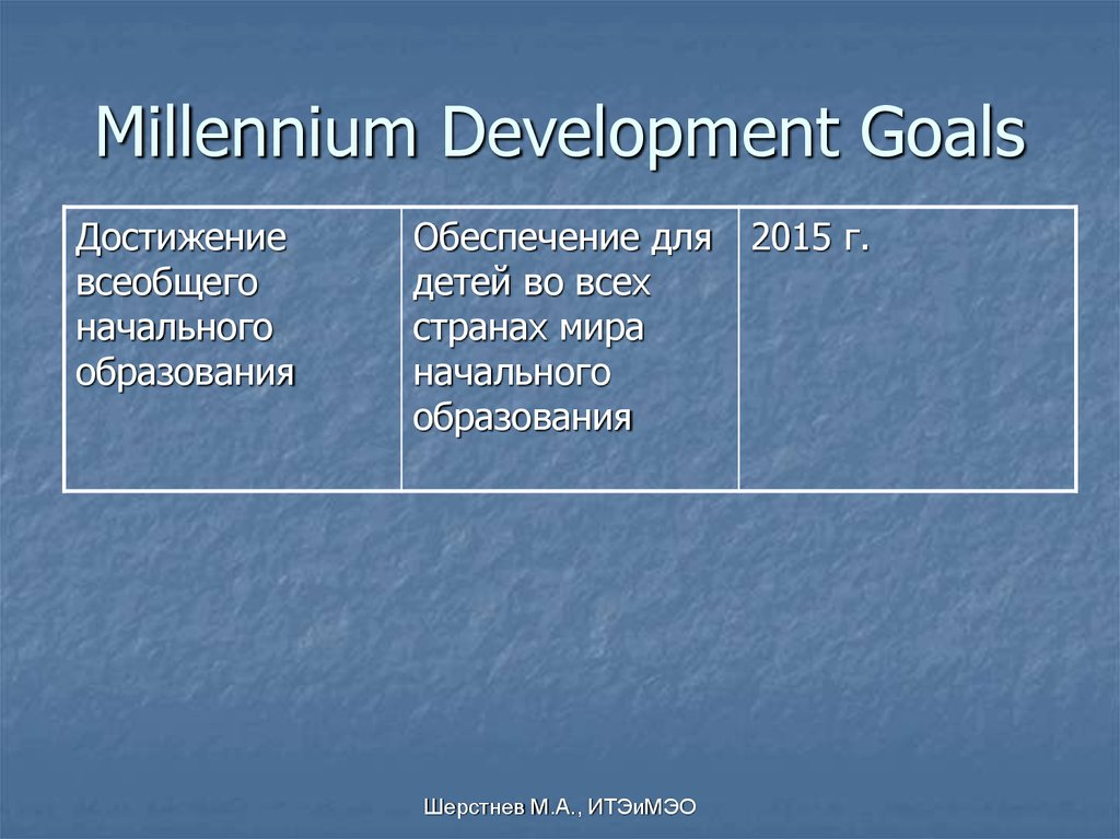 millennium development goal 6 Abstractmillennium development goal (mdg) 6, 'to combat hiv/aids, malaria and other diseases', is unique among the mdgs because it emerged in the context of unprecedented prior international mobilization, especially around hiv/aids, thus both reflecting and facilitating an expanding international health agenda.