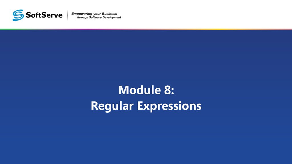 Module 8: Regular Expressions