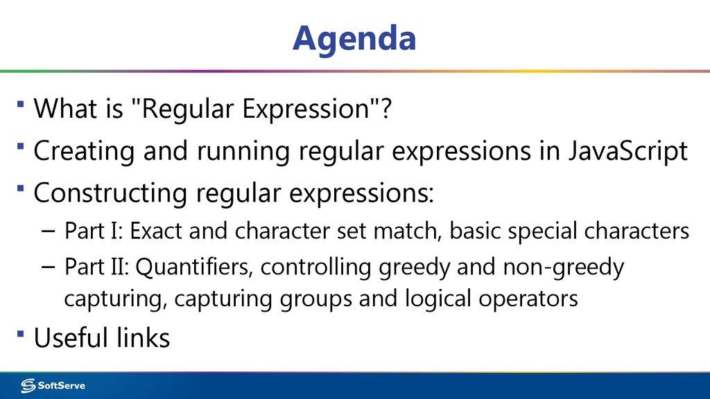 Module 8  Regular Expressions - презентация онлайн