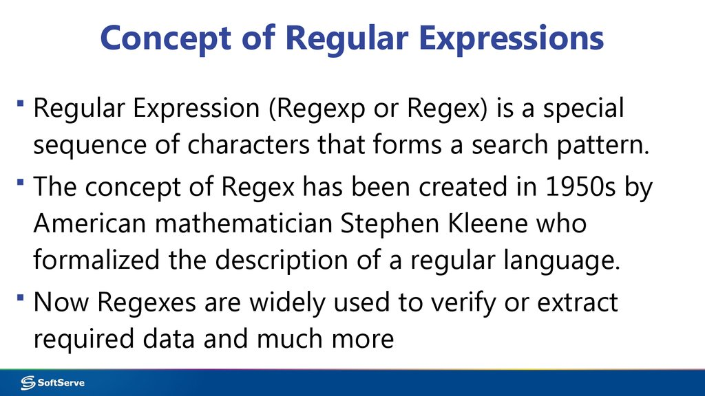 Concept of Regular Expressions