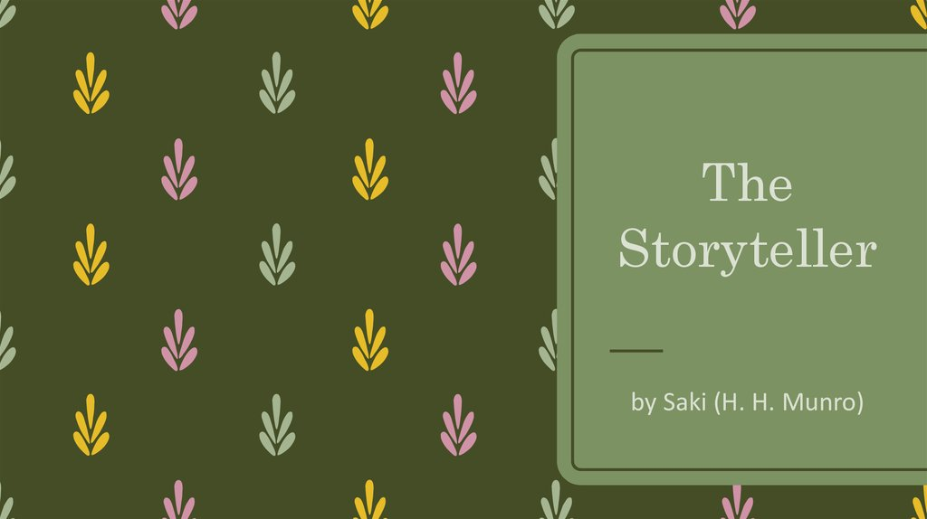 the lumber room stylistic devices 23 stylistic devices saki uses many stylistic devices to make the short story the  lumber-room a powerful study of human behavior it is a '.
