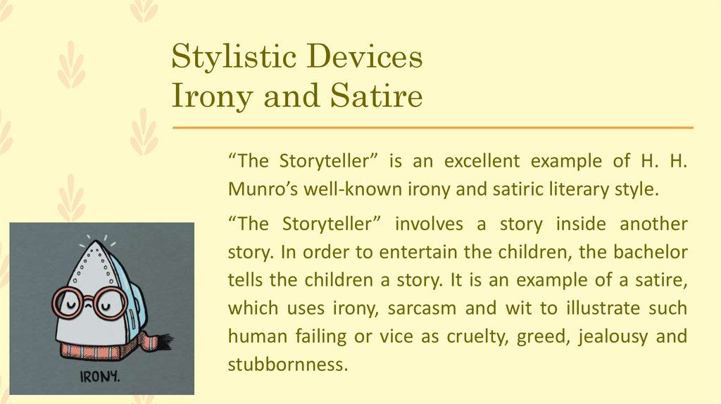 The Storyteller By Saki H H Munro Online Presentation