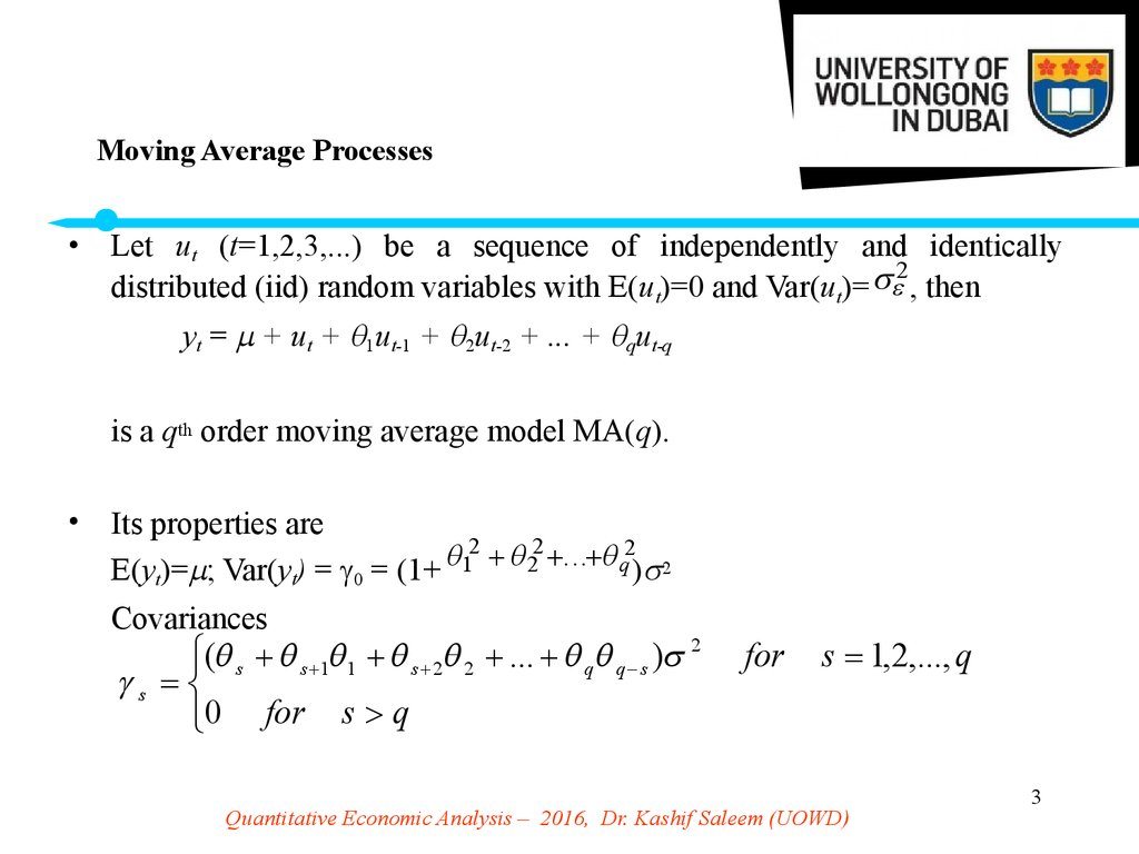 Moving Average Processes