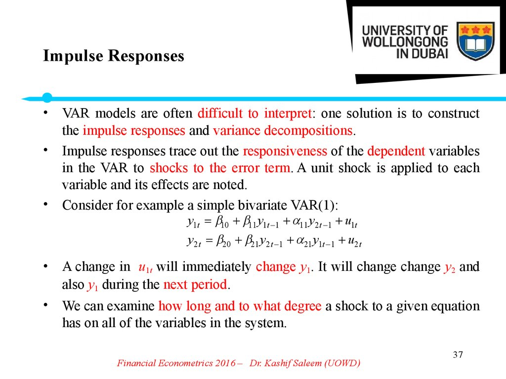 Impulse Responses