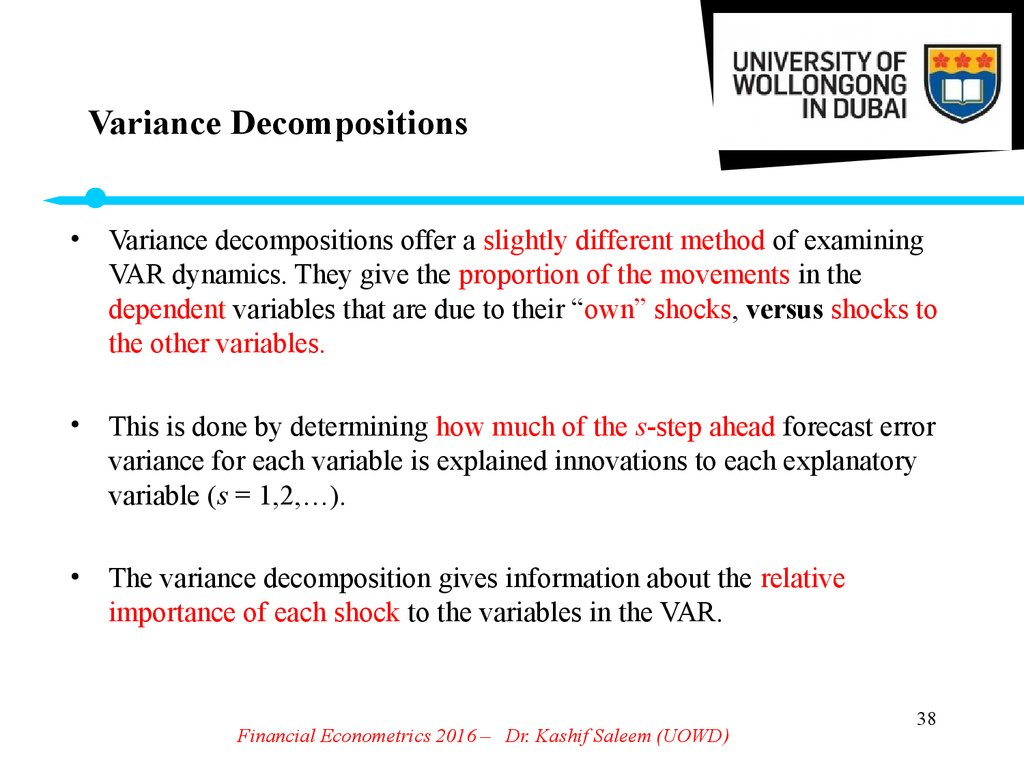 Variance Decompositions