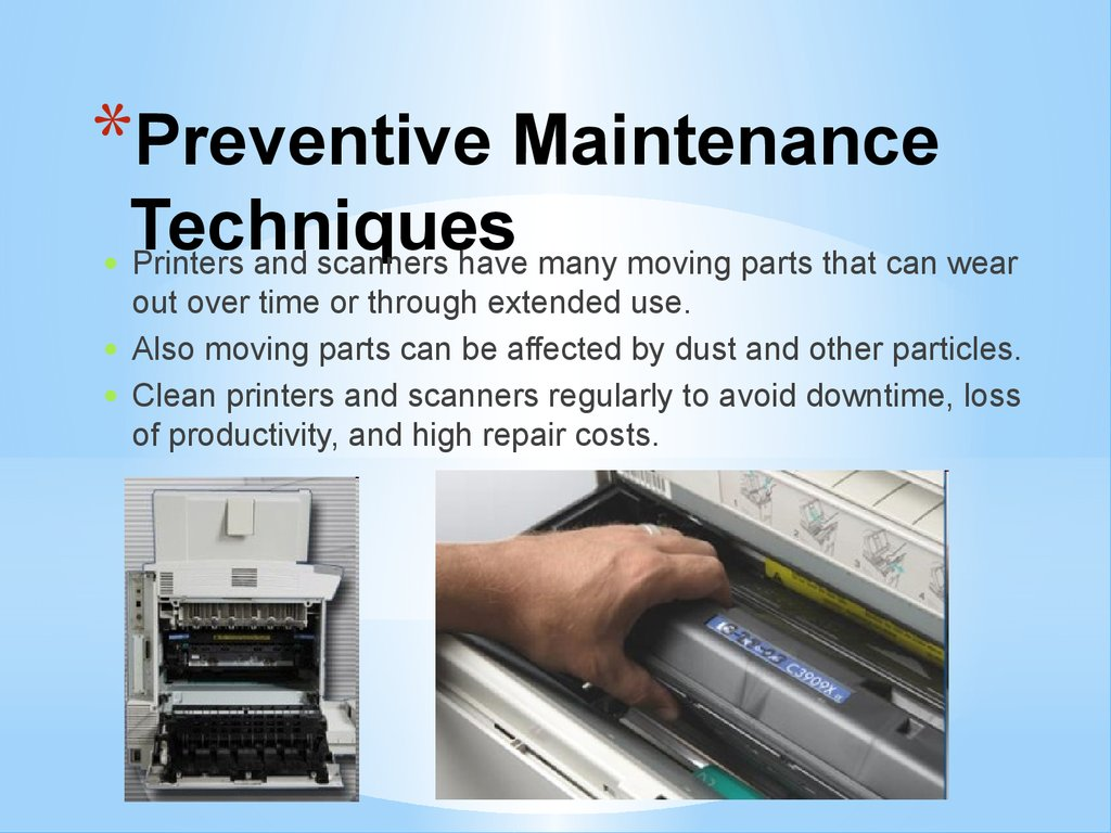 Preventive Maintenance Techniques