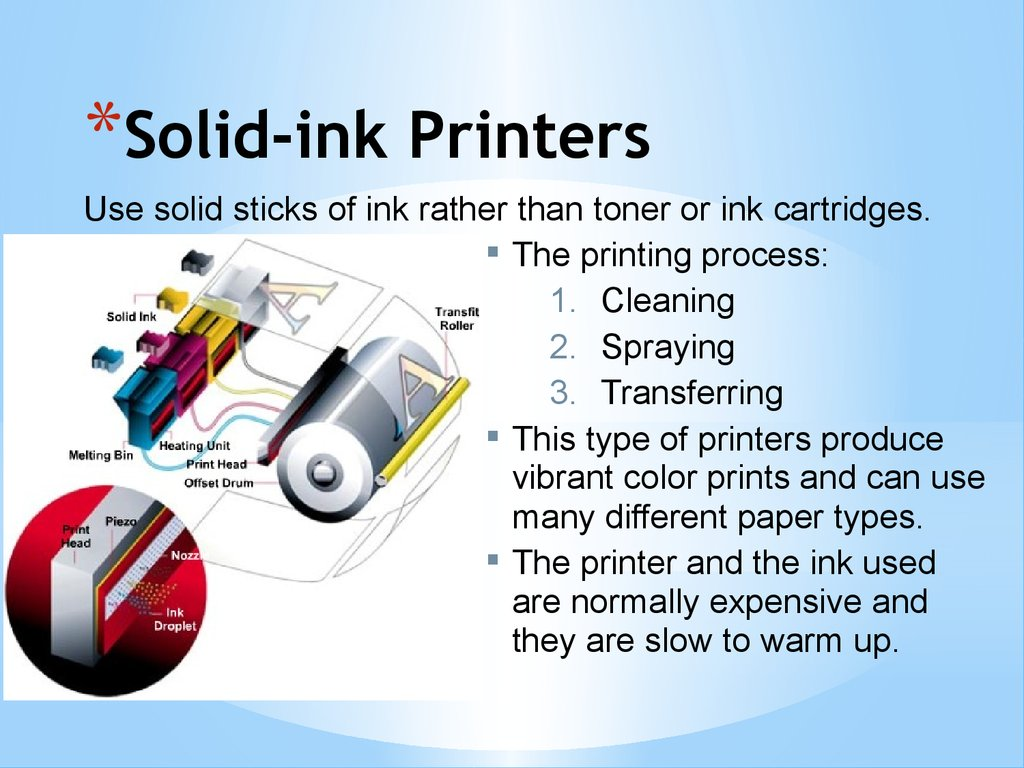 Solid-ink Printers