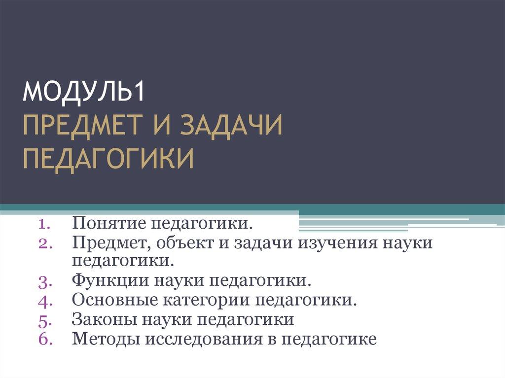 Реферат на тему предмет педагогики 6418