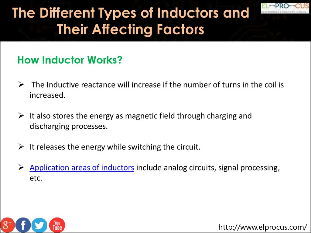 The Different Types Of Inductors And Their Affecting Factors Inductive Reactance Electronics How Inductor Works Will Increase If Number Turns In Coil Is Increased
