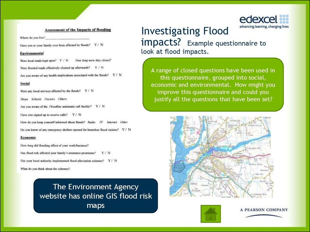 Investigating Flood impacts? Example questionnaire to look at flood impacts.