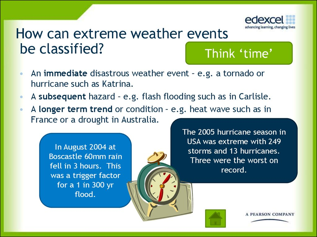 How can extreme weather events be classified?