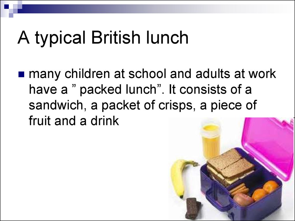 A typical British lunch
