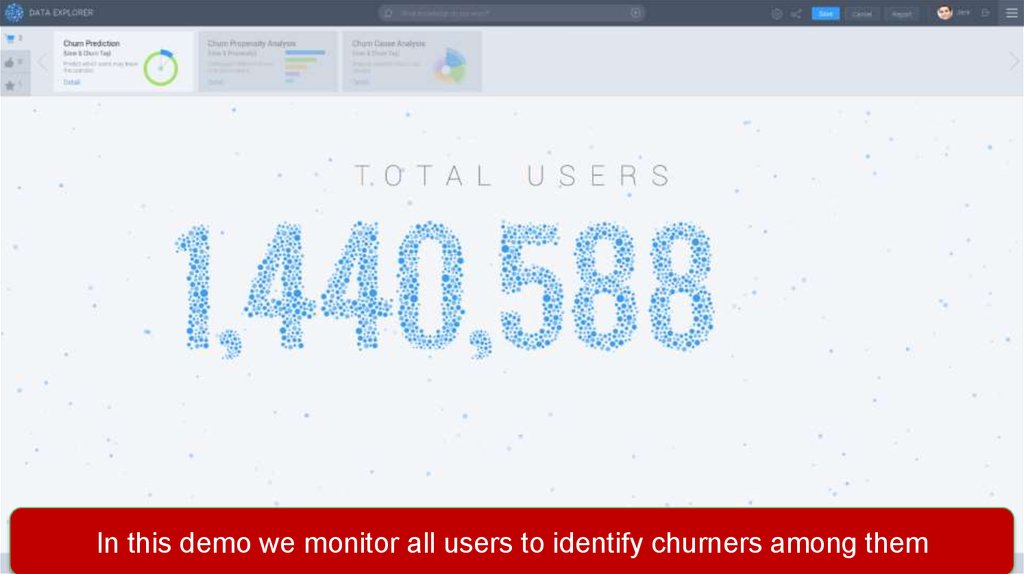Data Explorer Demo – Churn