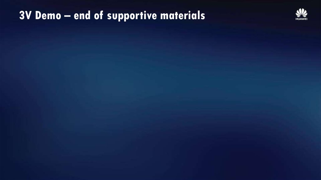 3V Demo – end of supportive materials