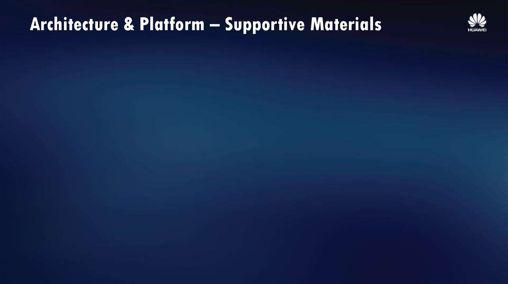 Architecture & Platform – Supportive Materials