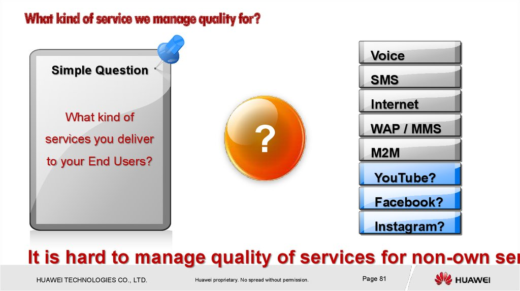What kind of service we manage quality for?