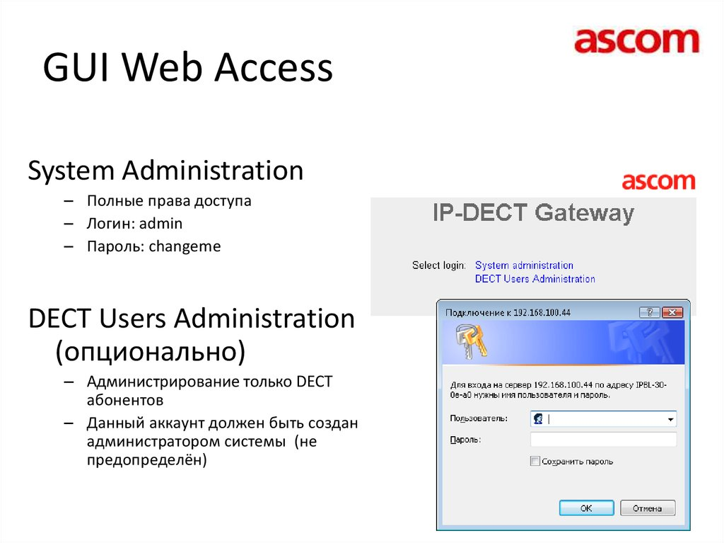 GUI Web Access