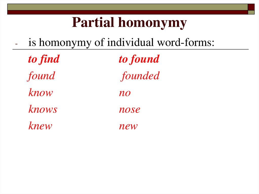 Partial homonymy
