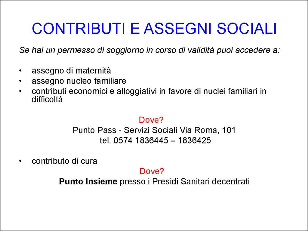 Conosci servizi di Prato? il PASS - online presentation