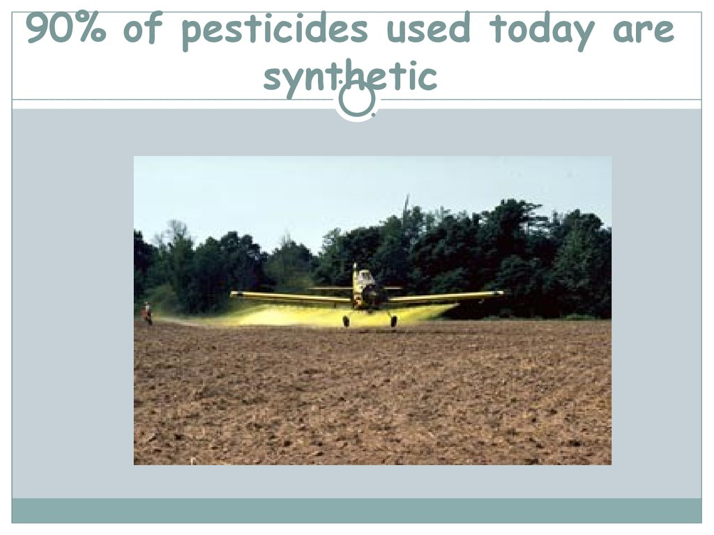 90% of pesticides used today are synthetic