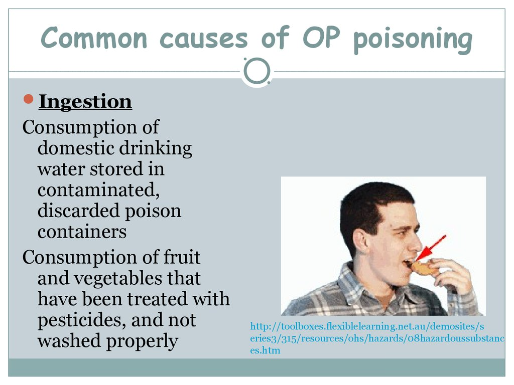 Common causes of OP poisoning