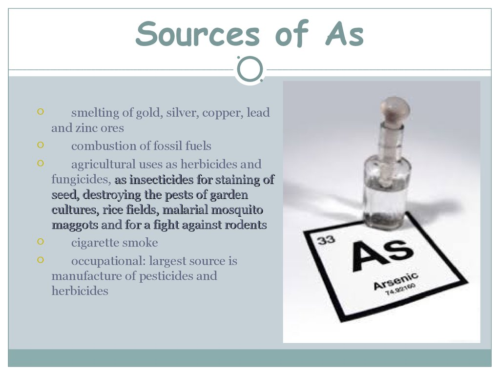 Sources of As