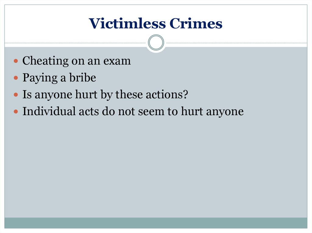 victimless crimes outline Category archives: sin and temptation that it is a victimless crime  the executable outlines series.
